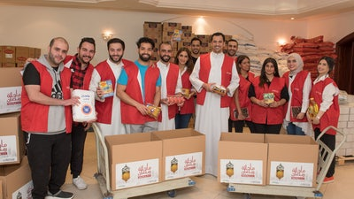 Gulf Bank Donates Foodstuff Boxes to Families in Need