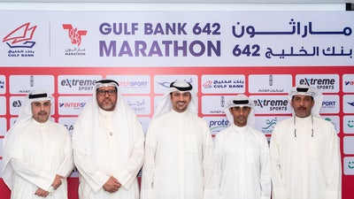 Gulf Bank Holds Press Conference Announcing Gulf Bank 642 Marathon