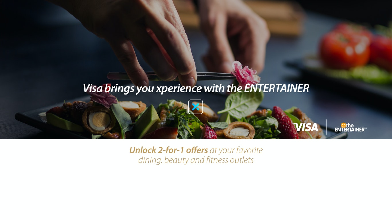 Visa xperience with Entertainer
